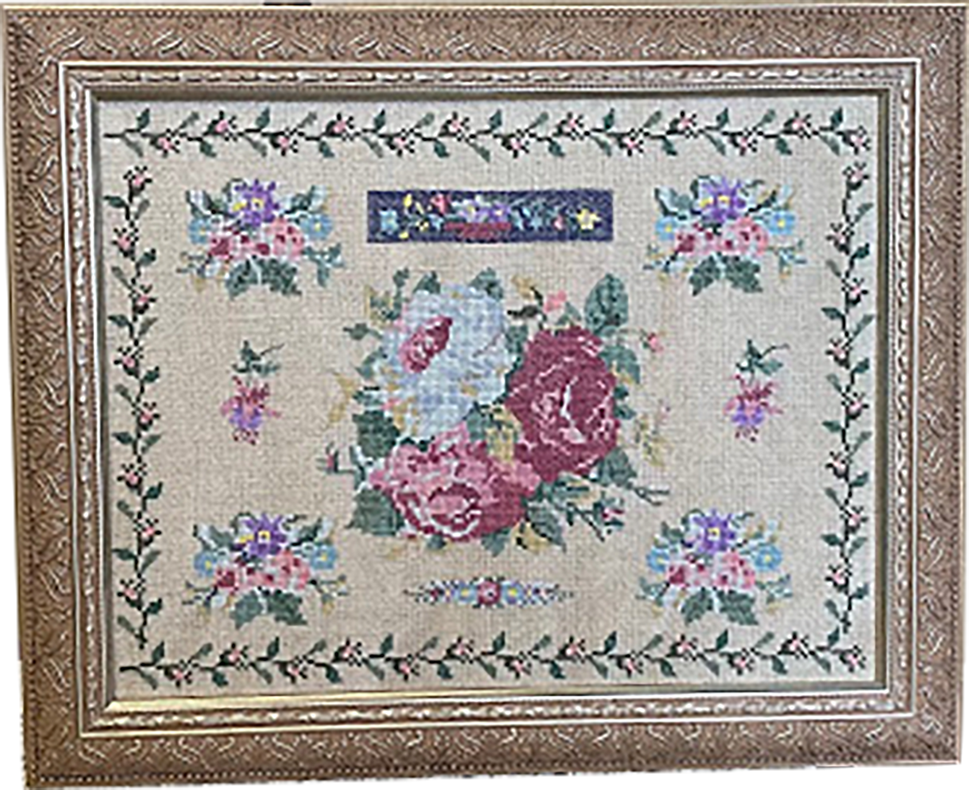Rose Garden Historic Reproduction Sampler Wendy Wilson
